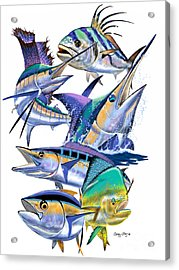 Pacific Gamefish  Acrylic Print by Carey Chen