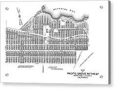 Pacific Grove May 7 1887 Acrylic Print