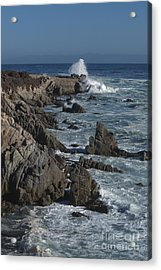 Acrylic Print featuring the photograph Pacific Grove Seascape by Stan and Anne Foster