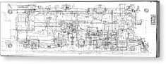 Pacific Locomotive Diagram Acrylic Print