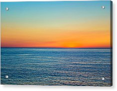Pacific Ocean Sunset Acrylic Print by April Reppucci