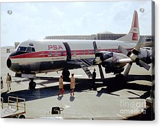 Pacific Southwest Airlines Lockheed L-188c, N376ps Acrylic Print