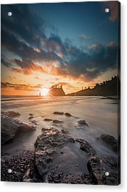 Acrylic Print featuring the photograph Pacific Sunset At Olympic National Park by William Lee