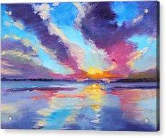 Pacific Sunset Acrylic Print by Nancy Merkle