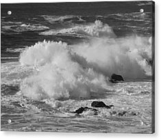 Pacific Surf Acrylic Print by Mark Alan Perry