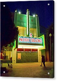 Acrylic Print featuring the photograph Pacific Theater - Culver City by Chuck Staley