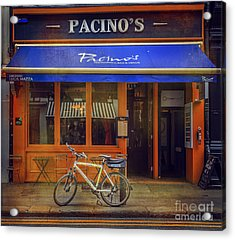 Acrylic Print featuring the photograph Pacino's Garda Bicycle by Craig J Satterlee