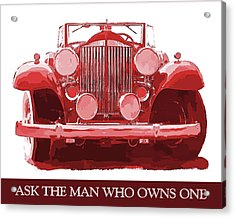 Packard Ask The Man Red Acrylic Print