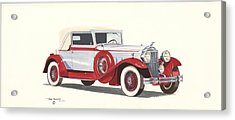 Packard Coupe Roadster 1932 Acrylic Print by John Kinsley