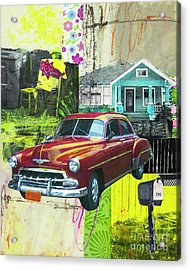 Acrylic Print featuring the mixed media Packard by Elena Nosyreva