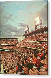 Packed Phull Of Phans Acrylic Print by JAMART Photography