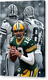 Packers Aaron Rodgers Acrylic Print