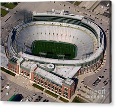 Packers Lambeau Field Acrylic Print by Bill Lang