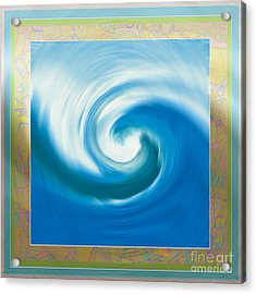 Pacswirl With Border Acrylic Print