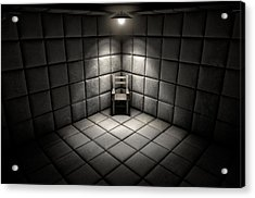 Padded Cell And Empty Chair Acrylic Print