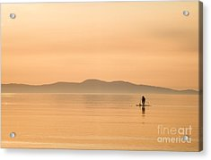 Paddle Boarding At Sunrise Acrylic Print