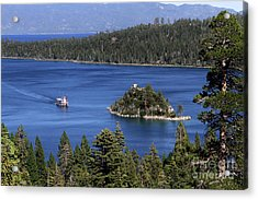 Paddle Boat Emerald Bay Lake Tahoe California Acrylic Print