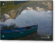 Paddle To The Mountains Acrylic Print by Idaho Scenic Images Linda Lantzy