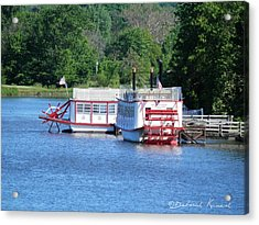 Paddleboat On The River Acrylic Print