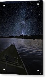 Paddling The Milky Way Acrylic Print