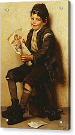 Paddy's Valentine Acrylic Print by John George Brown