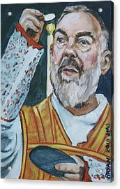 Padre Pio Acrylic Print by Bryan Bustard