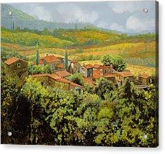 Paesaggio Toscano Acrylic Print by Guido Borelli