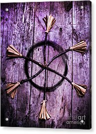 Pagan Or Witchcraft Symbol For A Gathering Acrylic Print