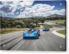 Pagani Zonda Hh And Koenigsegg Agera Hh Acrylic Print