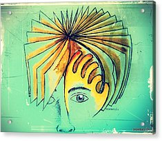 Page Turning Acrylic Print by Paulo Zerbato