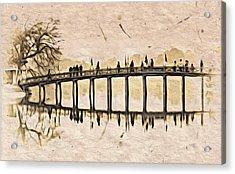 Pagoda Bridge Acrylic Print