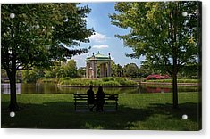 Acrylic Print featuring the photograph Pagoda Circle Interlude by Susan Rissi Tregoning