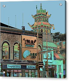 Acrylic Print featuring the photograph Pagoda Tower Chinatown Chicago by Marianne Dow