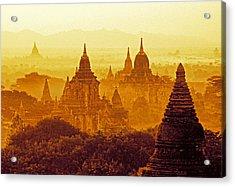 Pagodas Acrylic Print by Dennis Cox WorldViews
