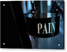 Pain Acrylic Print by Jean Gill