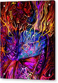 Pain Slow Death Five Acrylic Print by Karen Musick