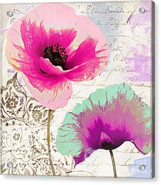 Paint And Poppies II Acrylic Print by Mindy Sommers