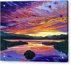 Paint Brush Sky Acrylic Print by David Lloyd Glover