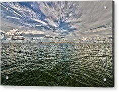 Paint Brush Sky - Ft Myers Beach Acrylic Print by Christopher L Thomley