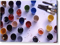 Paint Cups Acrylic Print by Randy Muir