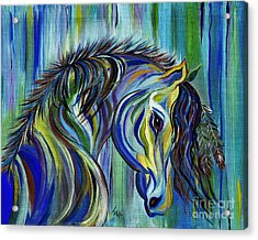 Paint Native American Horse Acrylic Print