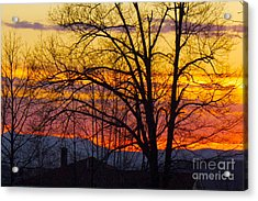 Paint Night Sunset Acrylic Print