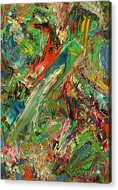 Paint Number 32 Acrylic Print by James W Johnson