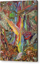 Paint Number 40 Acrylic Print by James W Johnson