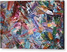 Paint Number 42-b Acrylic Print by James W Johnson