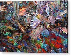 Paint Number 42-c Acrylic Print by James W Johnson