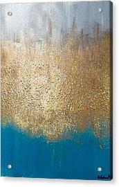 Paint The Sky Gold Acrylic Print