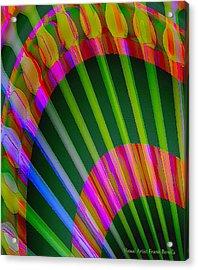 Acrylic Print featuring the digital art Paintbrushes by Visual Artist Frank Bonilla