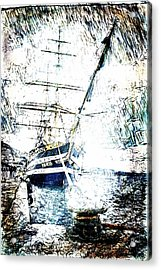 Painted Amerigo Vespucci Acrylic Print