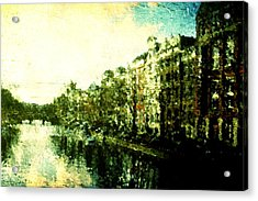 Painted Amsterdam Acrylic Print by Andrea Barbieri